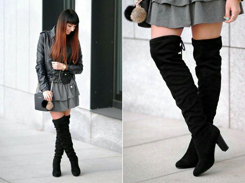 Pin By Setare Alizade On Outfits Outfits Fashion Over Knee Boot