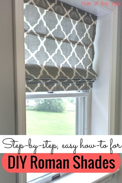 Easy Diy Roman Shades Future Diy Projects For A Home 3