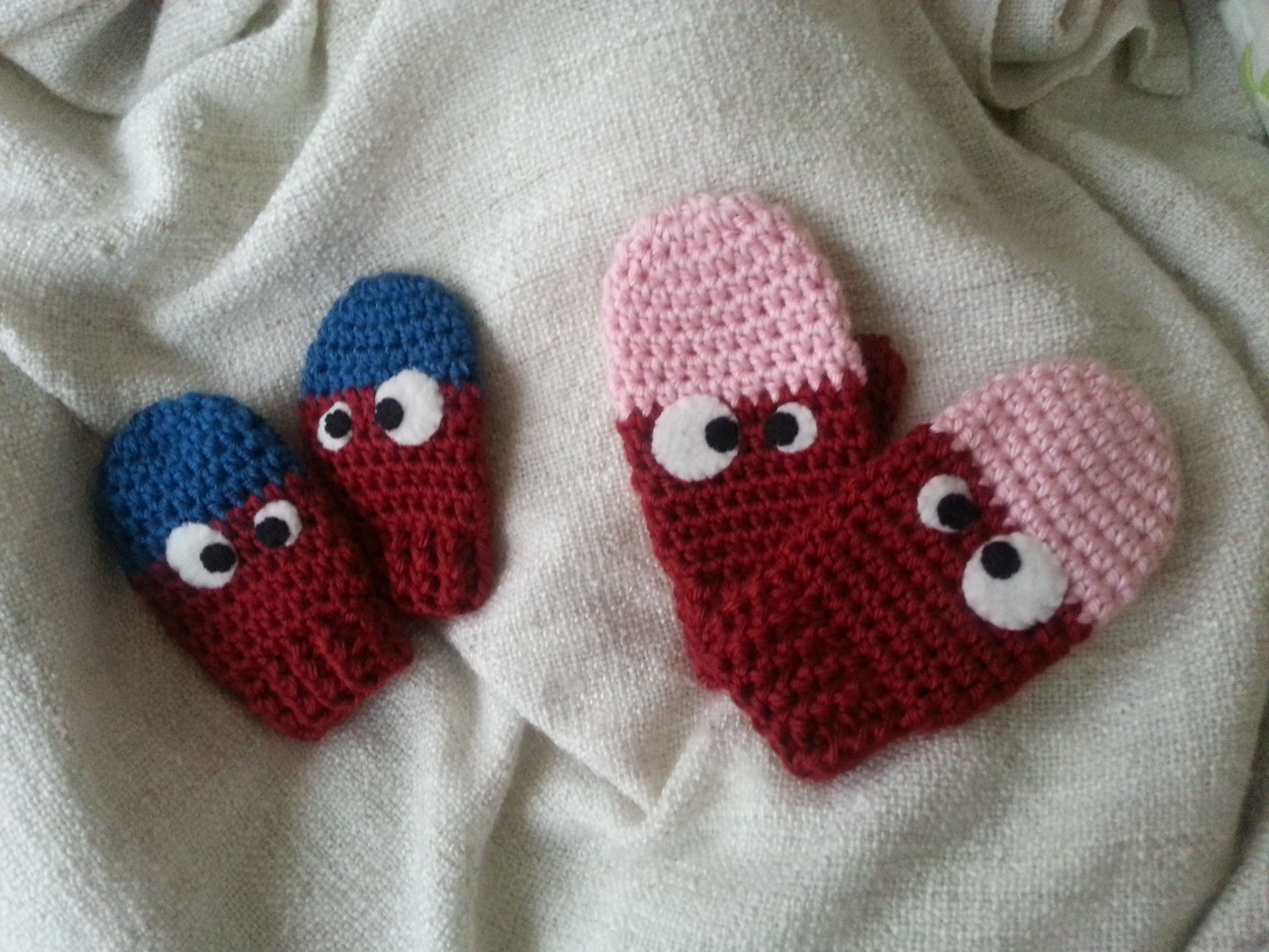 Free Crochet Pattern for Toddler Mittens - Monster Mittens | hats ...
