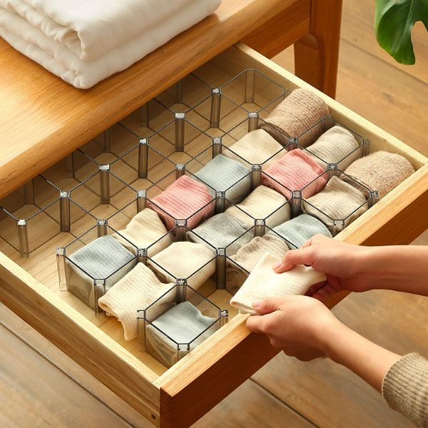 Cube Drawer Organizer Organiseringsideer Garderob Tra Och Lador