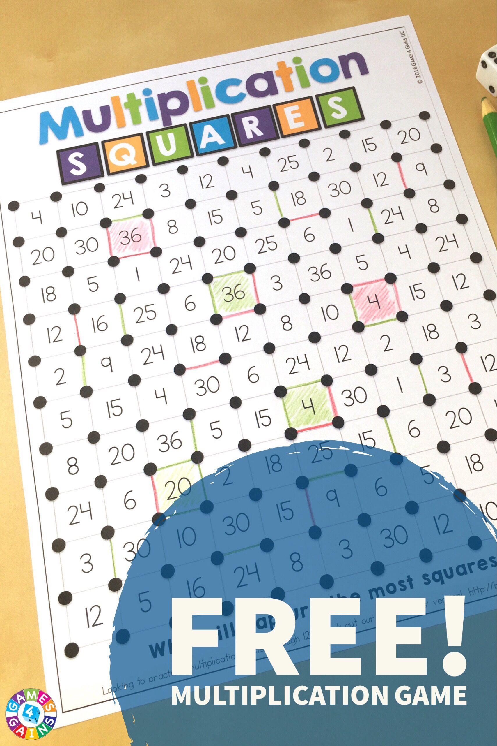 we 39 ve mathified the squares game games 4 gains website math multiplication games math. Black Bedroom Furniture Sets. Home Design Ideas