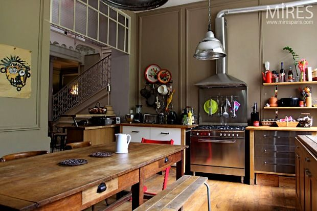La décoration d\u0027une maison de famille Kitchens, Spaces and Interiors