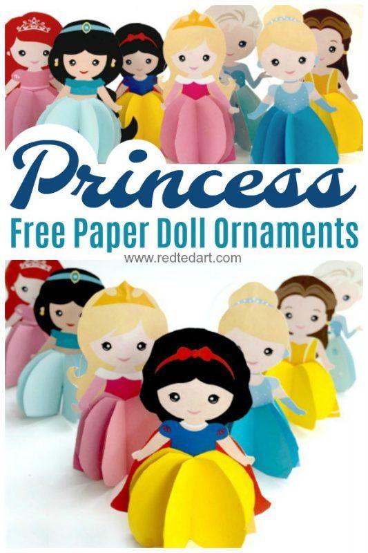 Paper Princess Doll DIY - Princess Ornaments & Cards