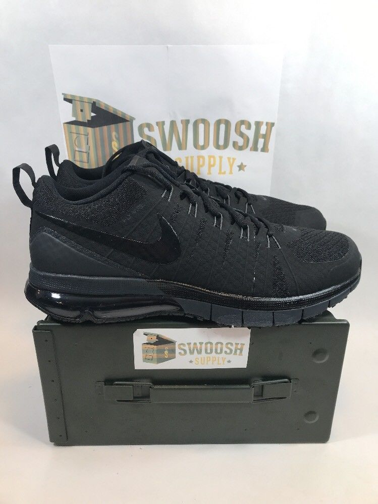 1bec4190b16 Nike Air Max TR180 Running Triple Black Anthracite 723972-001 Men s NEW  Size 14