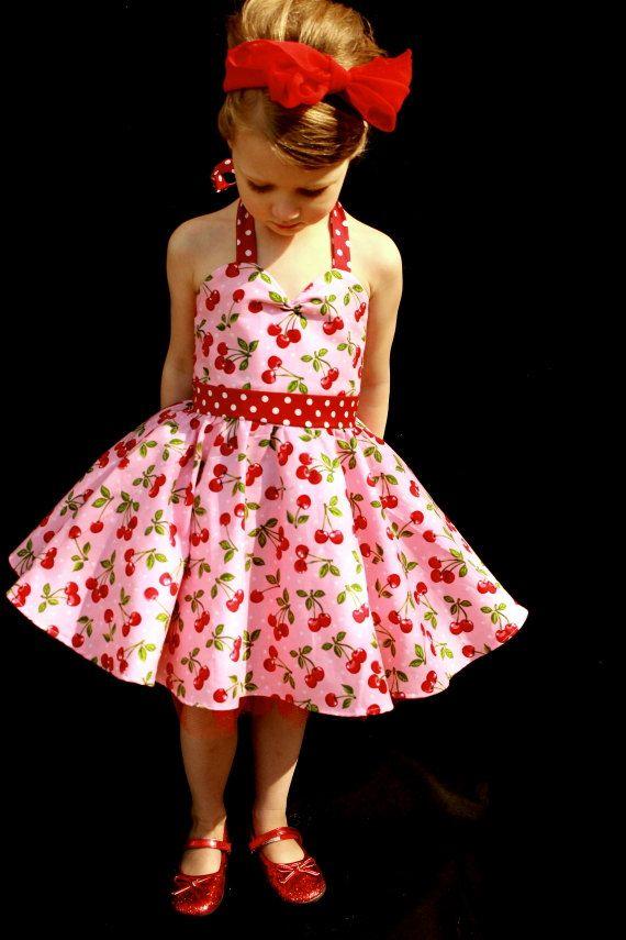 pink cherry rockabilly dress robes rockabilly rockabilly et cerises. Black Bedroom Furniture Sets. Home Design Ideas