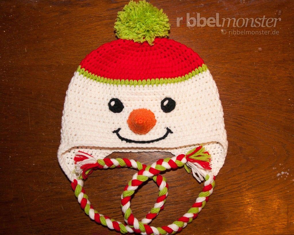 "Schneemann Mütze häkeln ""Frosty"" | Babyboy | Pinterest | Mütze ..."