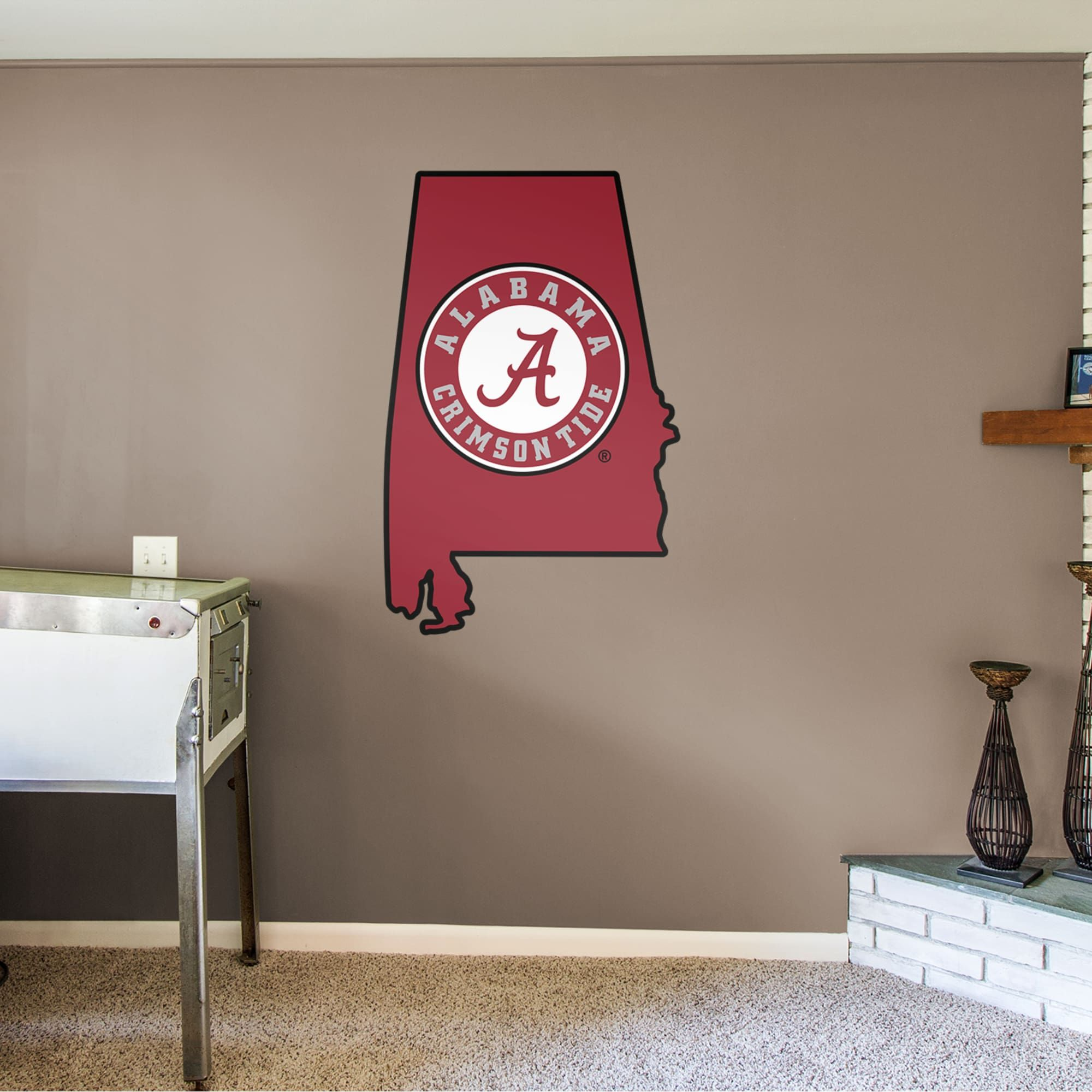 Alabama Crimson Tide State Of Alabama Giant Officially Licensed Removable Wall Decal In 2019 Alabama Crimson Tide Logo Alabama Crimson Tide Removable Wall Decals