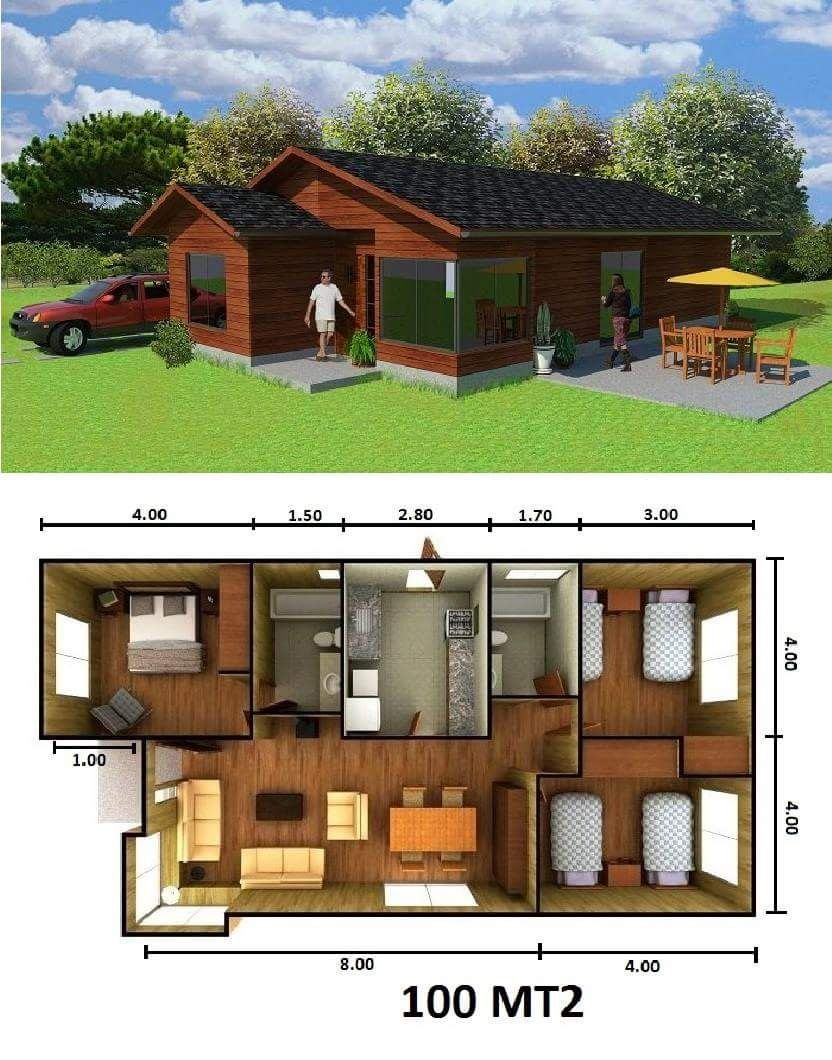 Pin de adriss hernandez en planos de casas en 2019 for Casas prefabricadas pequenas