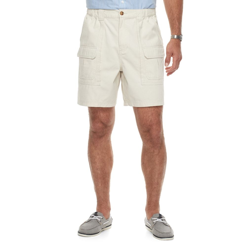 15f3fc8e44 Men's Croft & Barrow® Classic-Fit Side Elastic Cargo Shorts, Size: 44, Lt  Beige