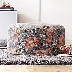 Cb2 Rainbow Snake Pouf Teal Pillows Pouf Eclectic Furniture