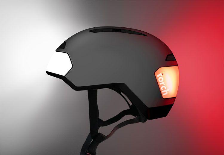 Torch Led Lighted Bicycle Helmet With Images Bike Helmet Bike