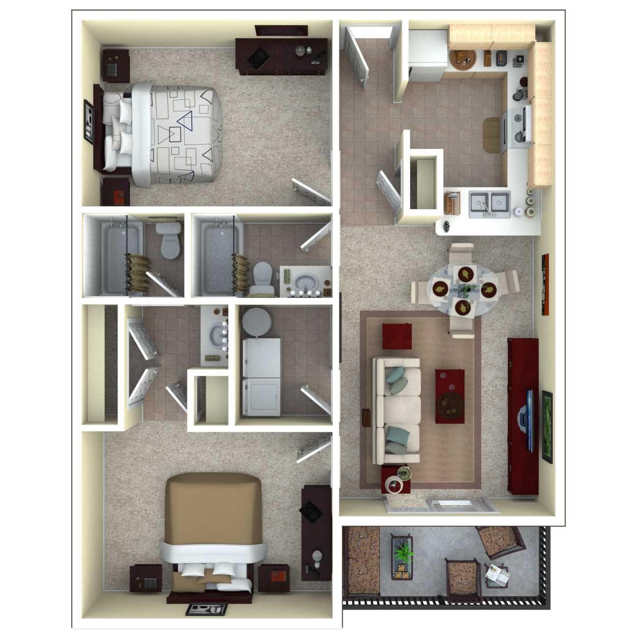 Design My Own Kitchen Online Free: 3d Floor Plan Apartment - Google Search