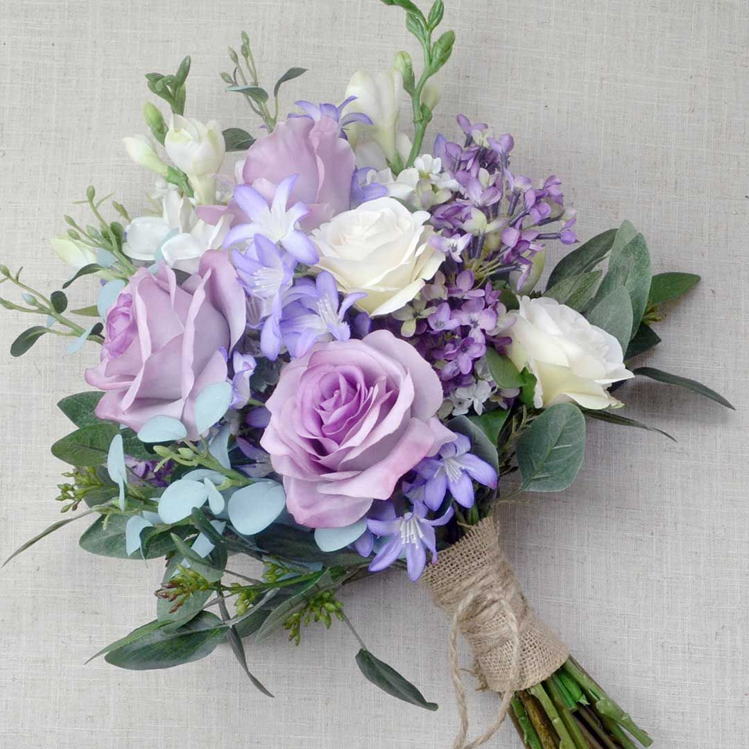 Classic Lavender Wedding Bouquet Order And Buy Online At Bunchesdirect Bridesmaid Flower Bouquet Bridesmaid Flowers Lavender Wedding
