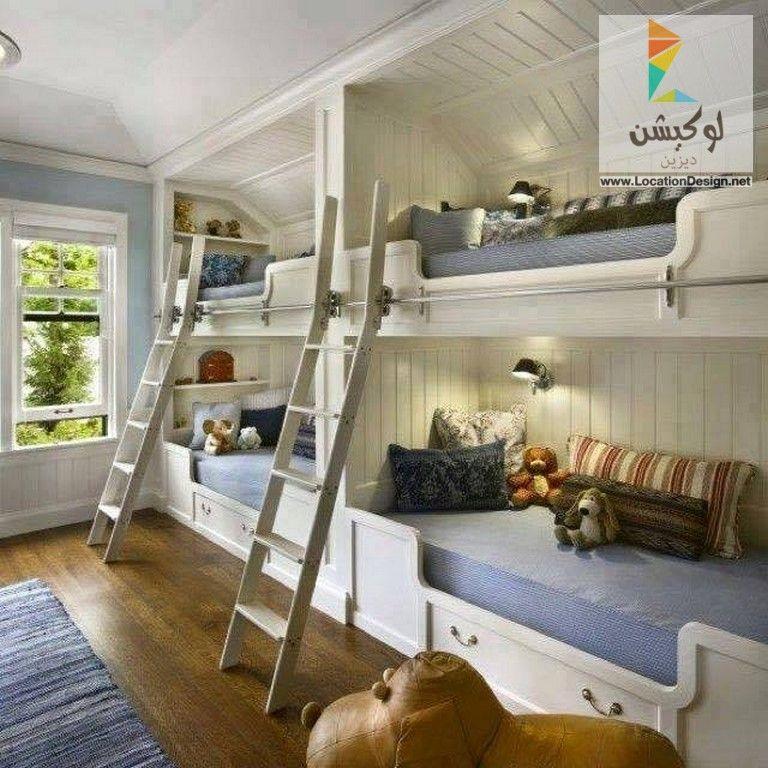 غرف نوم اطفال دورين للمساحات الضيقة لوكشين ديزين نت Bunk Beds Built In Sleeping Nook Bunk Bed Designs
