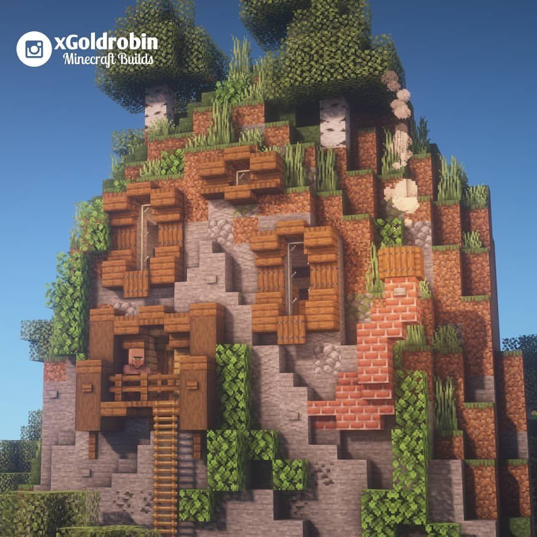 Goldrobin Minecraft Builder Xgoldrobin Instagram Photos And Videos Minecraft Mountain House Amazing Minecraft Minecraft Construction