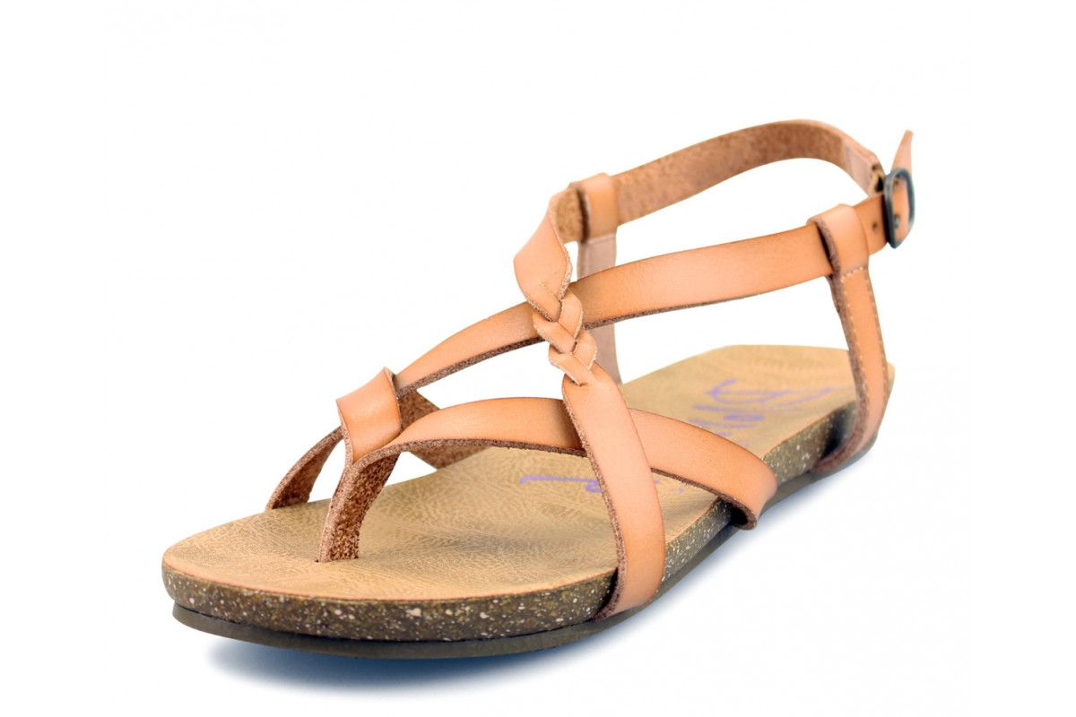 f1fbcfe6a Blowfish Granola B Nude Tan Flat Strappy Sandals | Blowfish Footwear ...