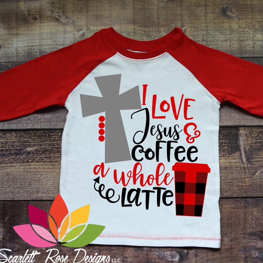 I Love Jesus and Coffee A Whole Latte SVG Christmas tee