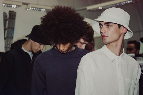 jyudeidei:  Backstage at Margaret Howell byIeva Blazeviciutefor Essential Homme mag. London Collections: Men SS14