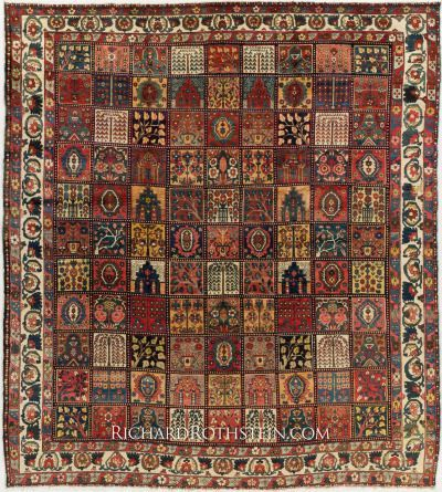 Tappeto antico persiano, & ldquo; Bakhtiari & rdquo