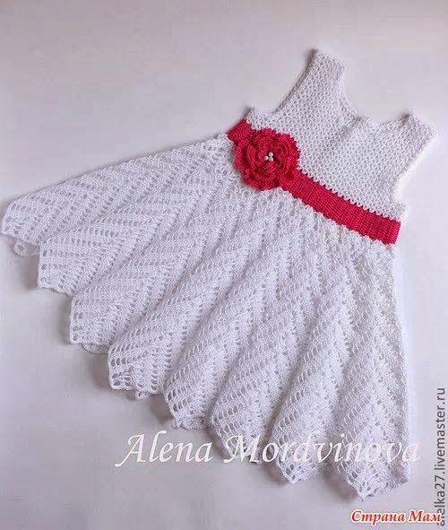 vestido on Pinterest | Tejidos, Vestidos and Crochet Baby Dresses