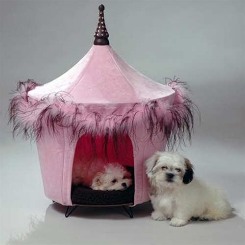 Posh Pink Tent Bed Dog Tent Dog Tent Bed Pink Dog Beds