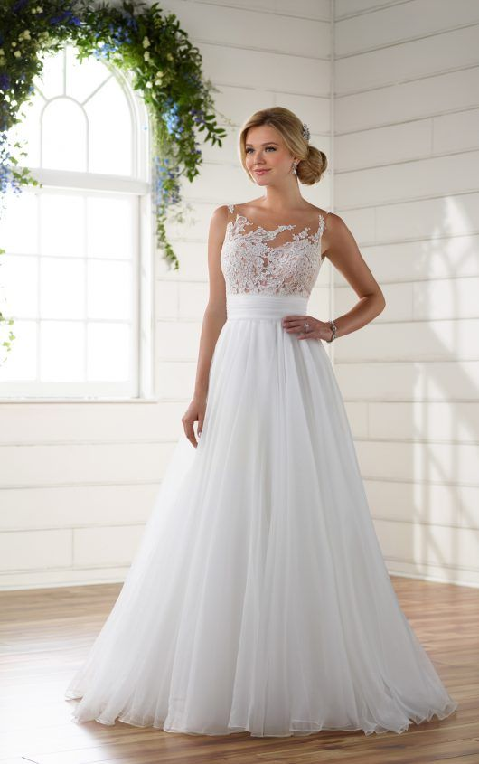 e4c5494edd D2183 Unique Wedding Dress Asymmetrical Neckline by Essense of Australia
