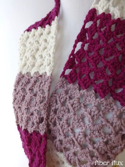 Raspberry Butter Cream Infinity Scarf with tutorial Fiber Flux ...