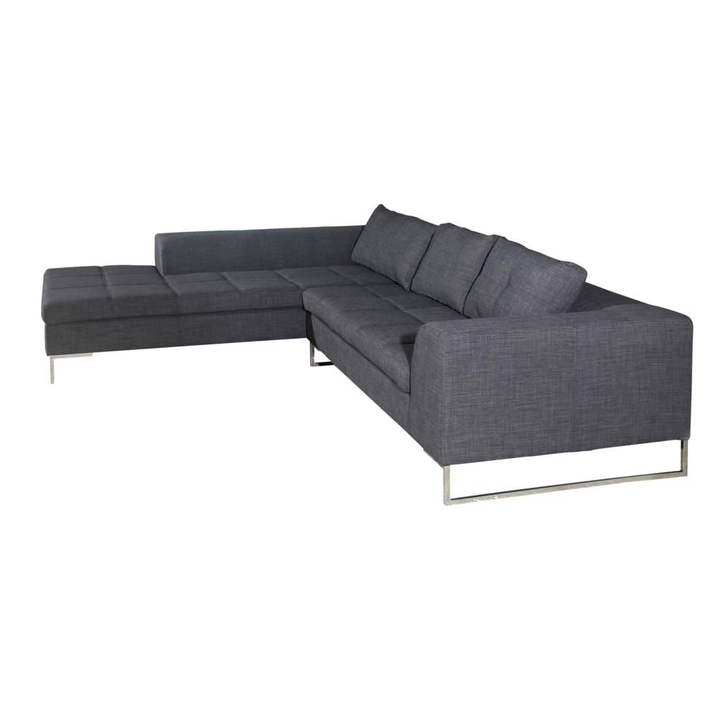 SULLA SECTIONAL LEFT CHARCOAL FABRIC