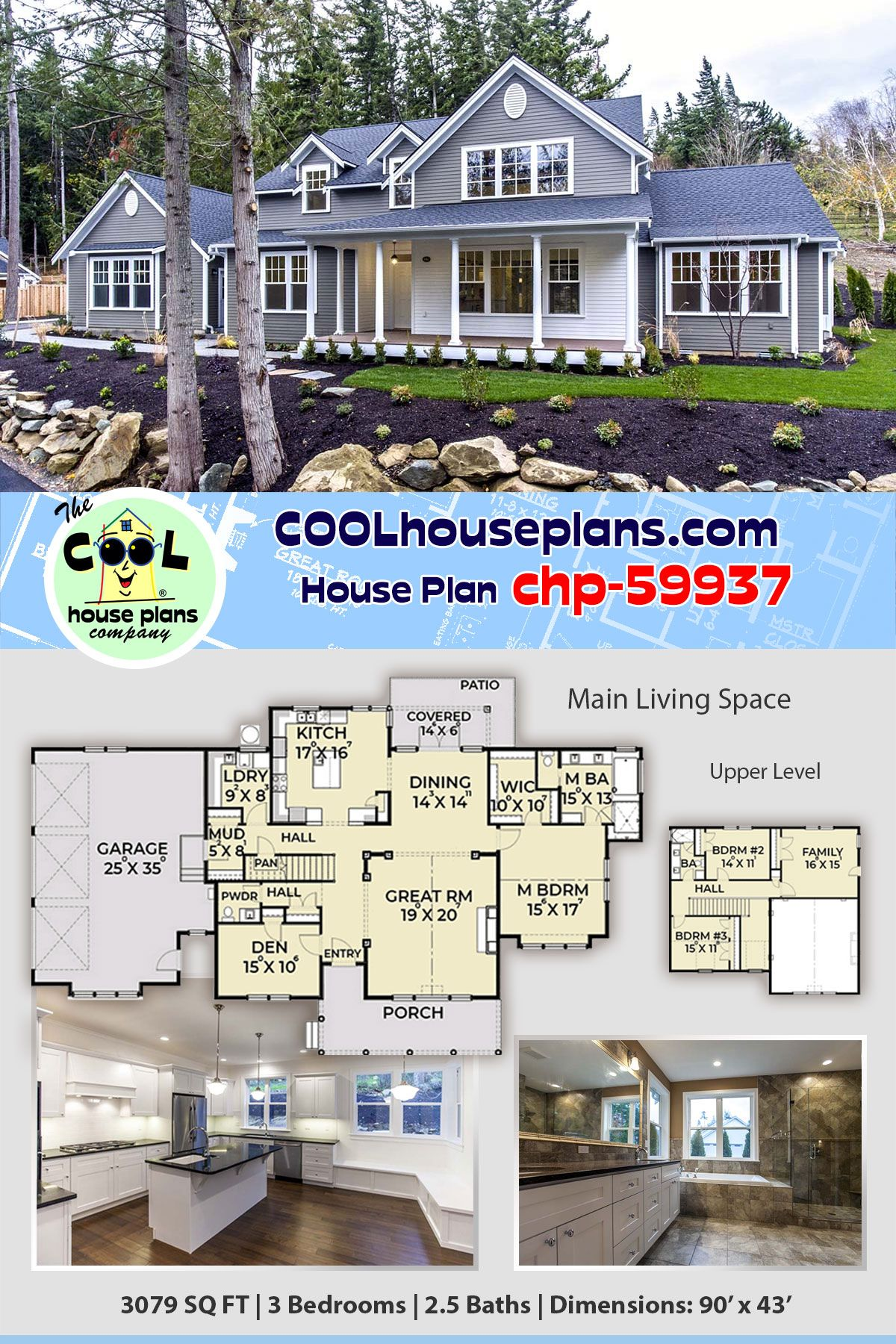 Best 4 Bedroom Modern Farmhouse With 3 5 Bathrooms And An Outdoor Living Space At Cool House Plans In 2020 House Plans Farmhouse Craftsman House Plans My House Plans