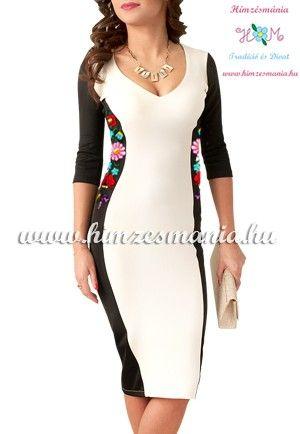 38703a4081 Kézi hímzésű kalocsai mintás ruha - cream (36) | Alkalmi | Kalocsai ...