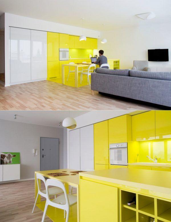 bucatarii-galbene-8 | Kitchens design | Pinterest | Kitchen design ...