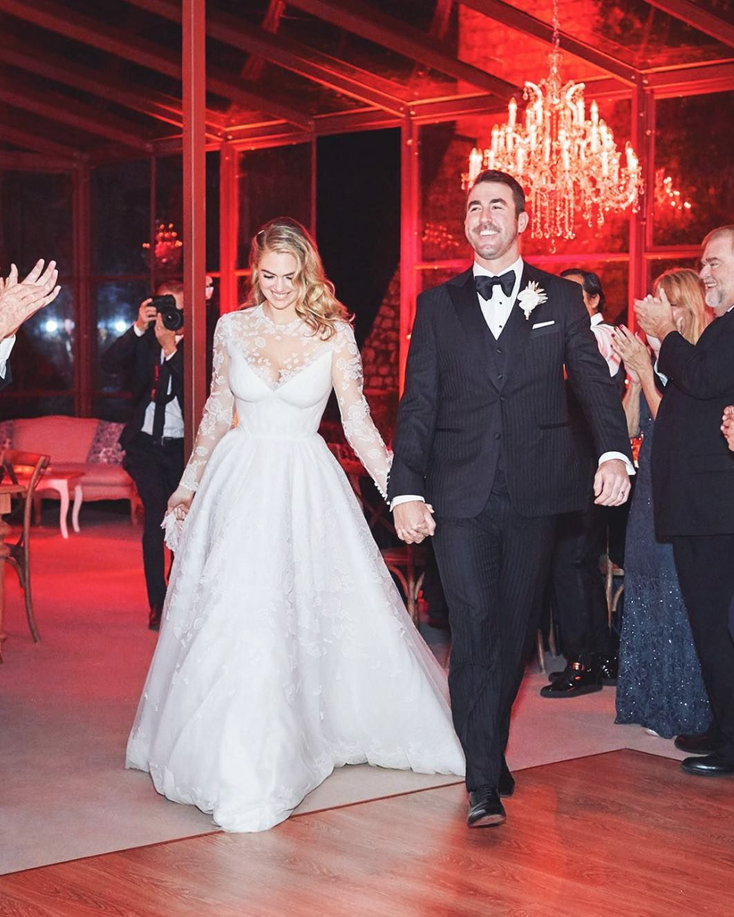 214efdffecf Kate Upton s late night wedding dress look was completely see-through.