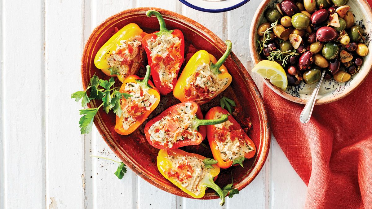 Stuffed Mini Bell Peppers With Serrano Ham Cheese Recipe Recipe Stuffed Peppers Ham And Cheese Serrano Ham
