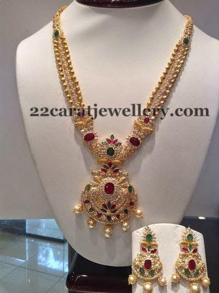 Jewellery Designs CZ Chandbalis Set by Shree Jewels jewellery
