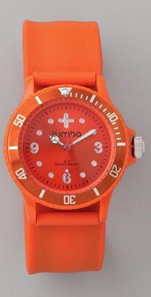Tangerine watch.