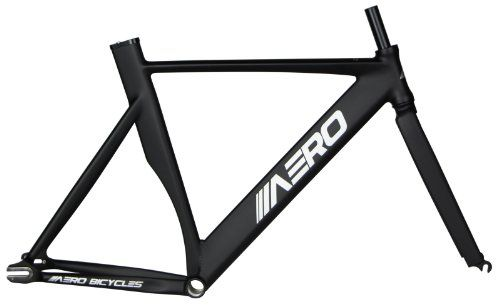 Fixed Gear Bike Frames - Aero S7 Alloy Track Frame Matte Black 54cm ...
