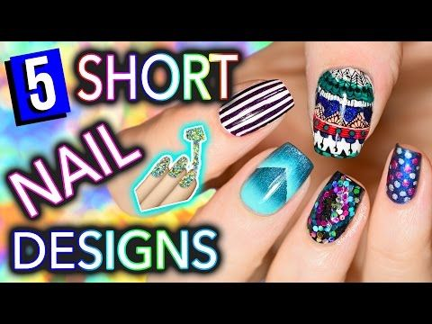 5 Easy Nail Art Designs For SHORT NAILS Holosexuals