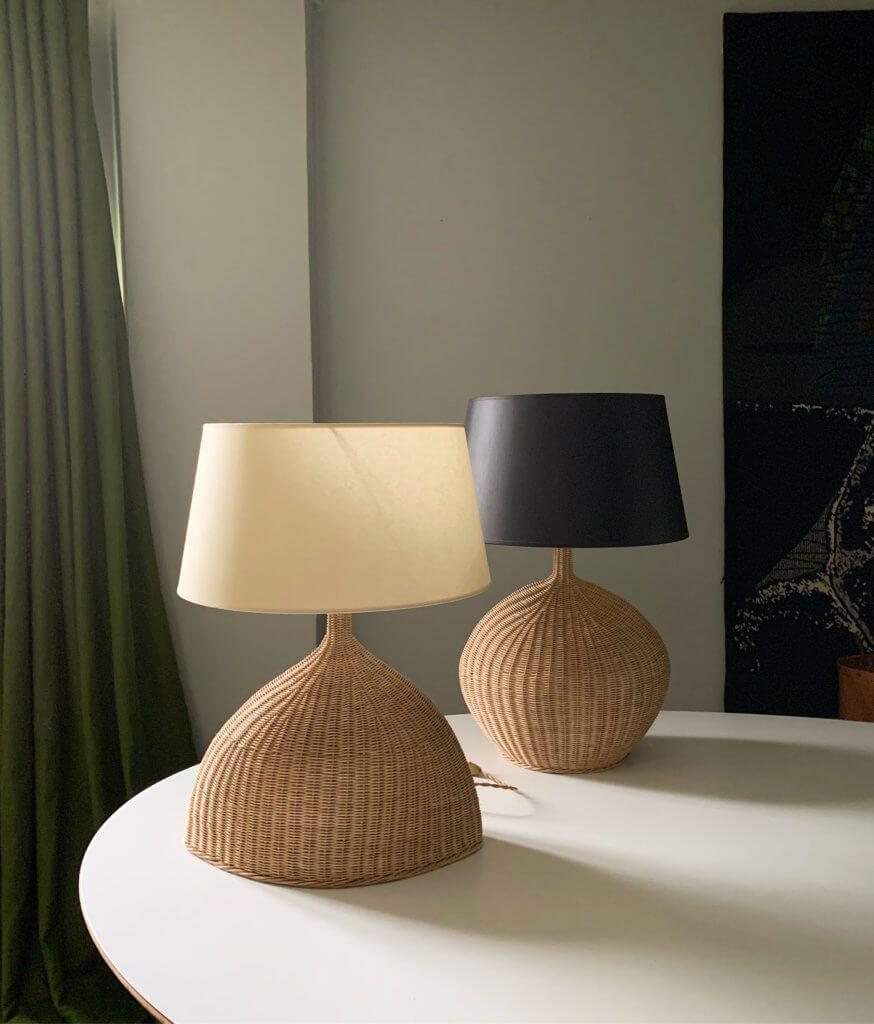 Atelier Vime Rattan And Wood Lp2 Lp3 Table Lamp Atelier Vime