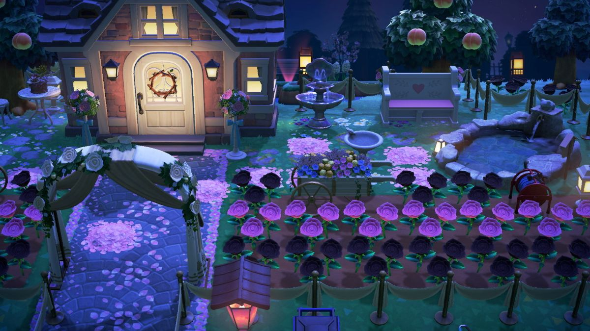 Yard At Night Outdoor Bath Event Entrance Animal Crossing