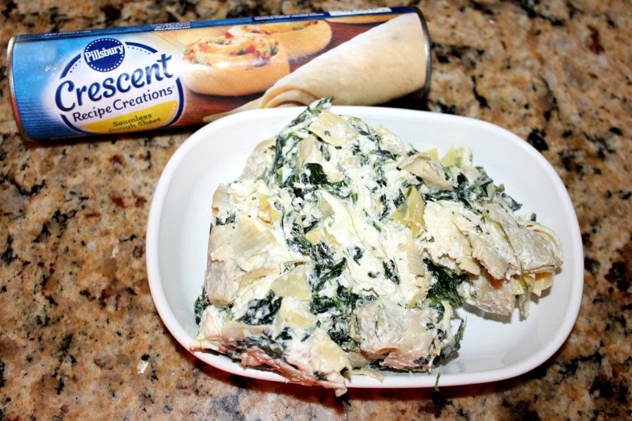 Spinach Artichoke Pinwheels! Oh Bite It Crescent