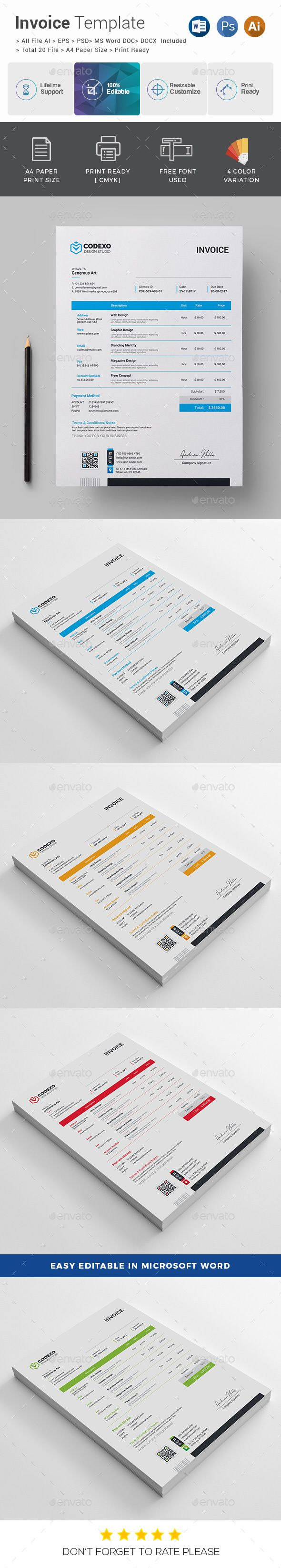 Invoice  Letter Size Invoice Template And Templates