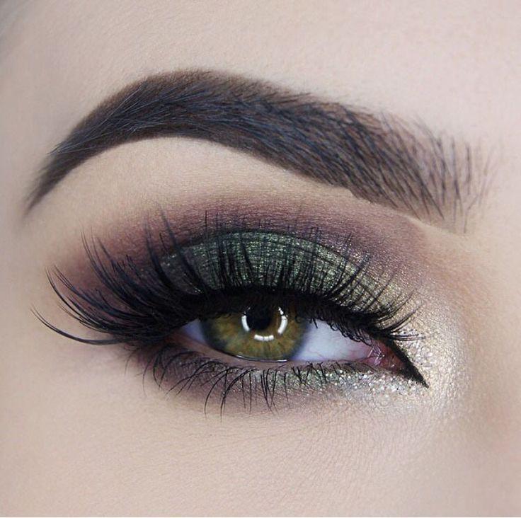 Дымчатый макияж зеленых глаз глаза фото