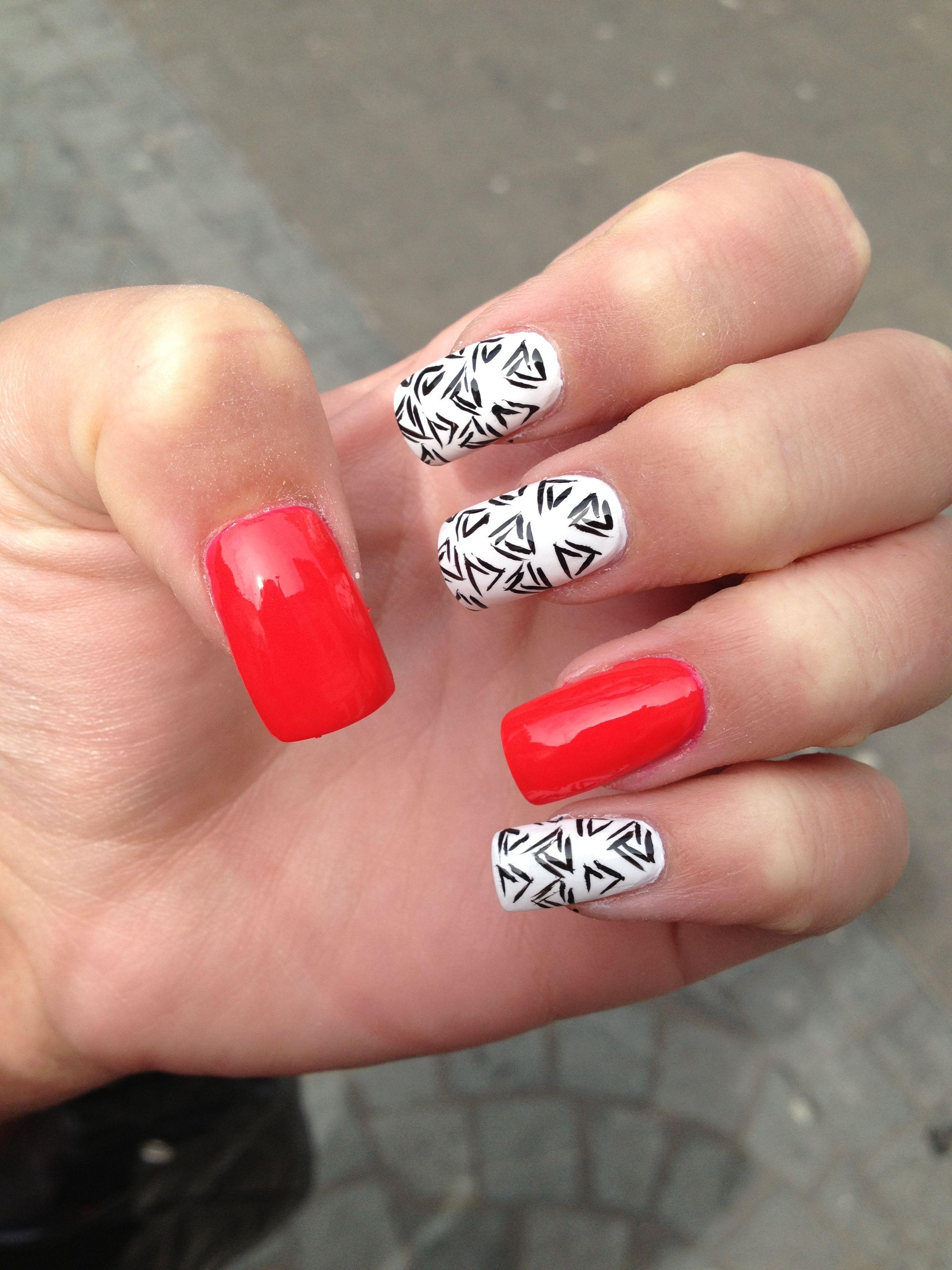Fun acrylic nail design nail designs pinterest acrylic nail