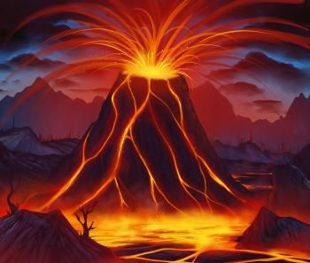 تعلم رسم بركان Drawings Guided Drawing Volcano Drawing