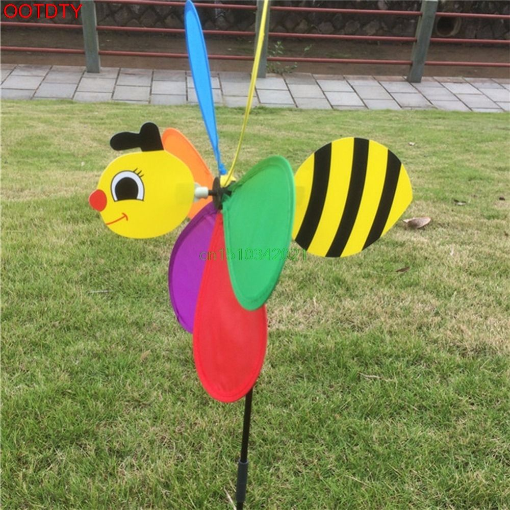 Cute Windmill 3D Large Animal Bee Windmill Wind Spinner Whirligig ...