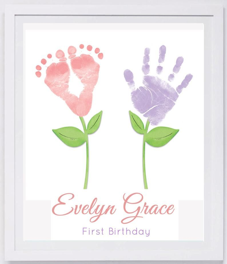 Baby Footprint Art, Forever Prints hand and footprint keepsake for kids or baby. Mother's Day, New Mom, Nursery Art Baby In loving memory #nurseryideas