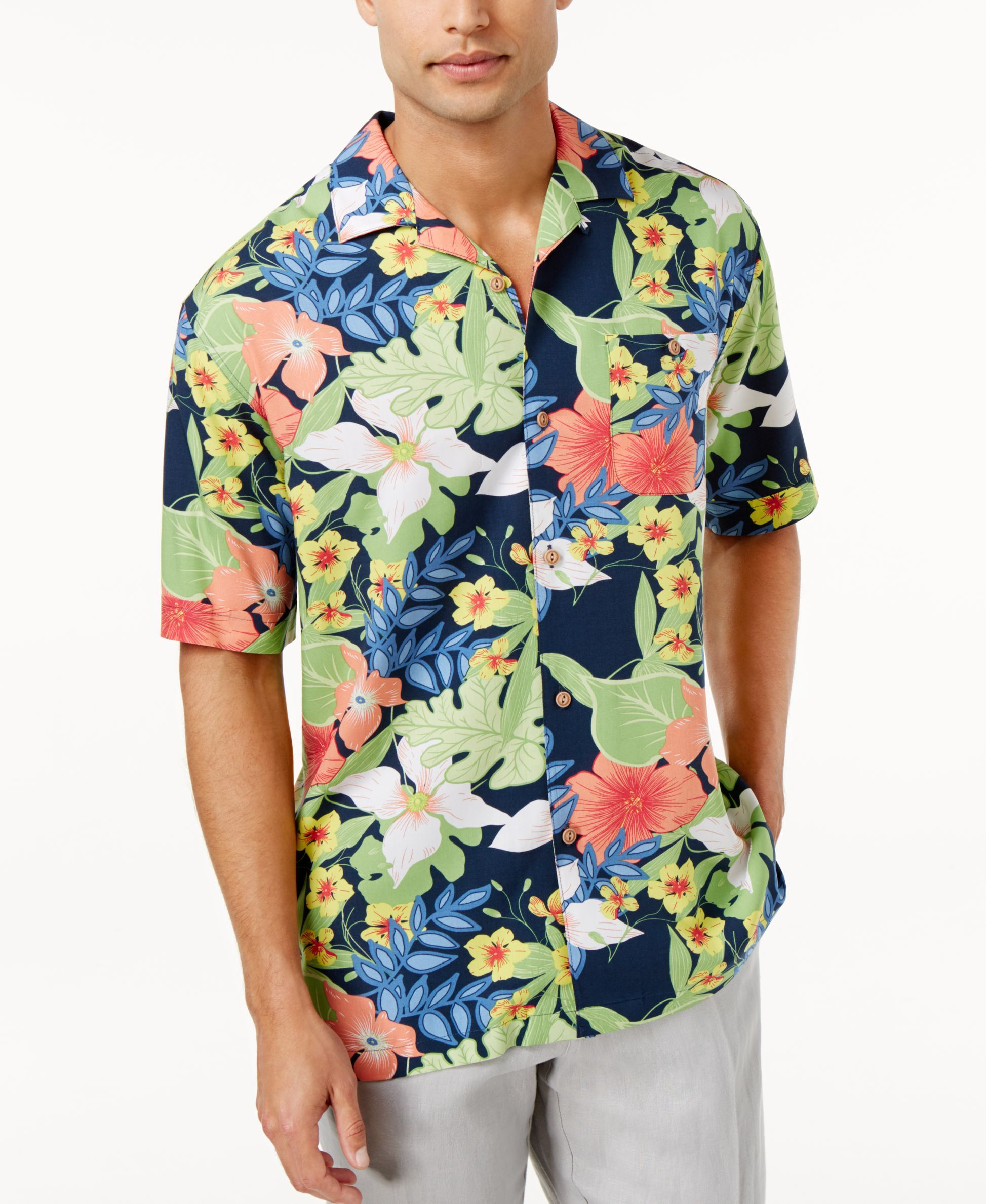 d58151a8453 Cubavera Men's Floral Print Shirt | Products