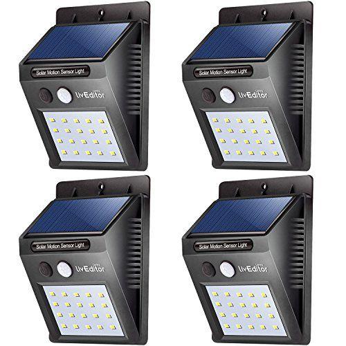 20 Led Solar Lights Outdoorliveditor Waterproof Solar Powered Motion Sensor Light Wireless Security Lights Ou Motion Sensor Lights Solar Lights Security Lights