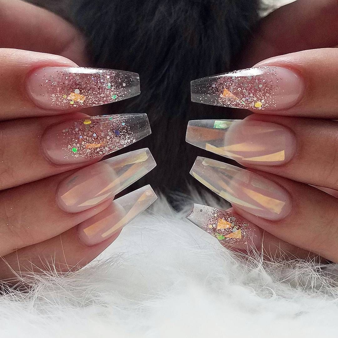 transparency nail art designs | coffin | ideas | summer ...