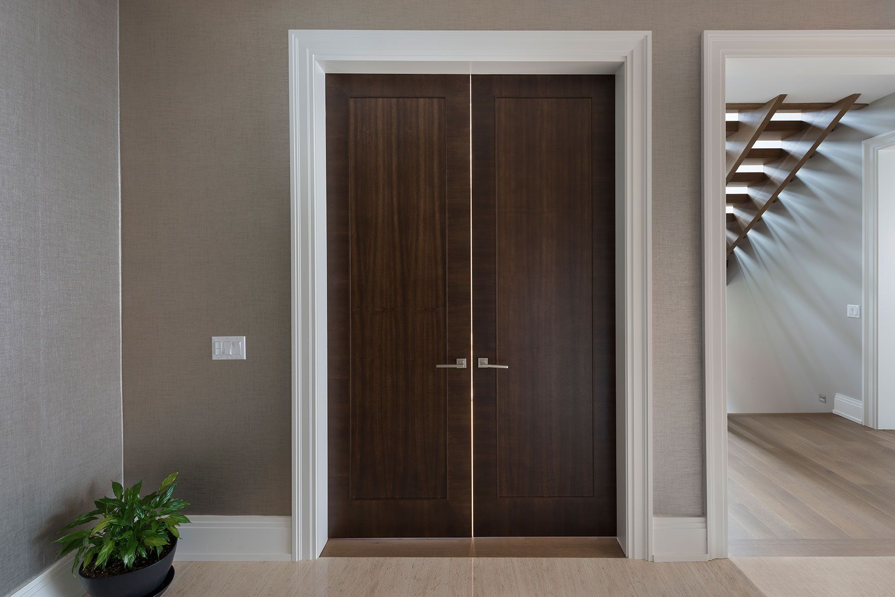 Custom Wood Interior Doors | Office Modern Door DBIM MD1005   Glenview Haus    Custom